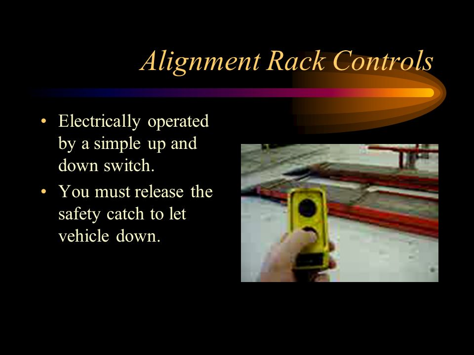 Alignment Rack Controls