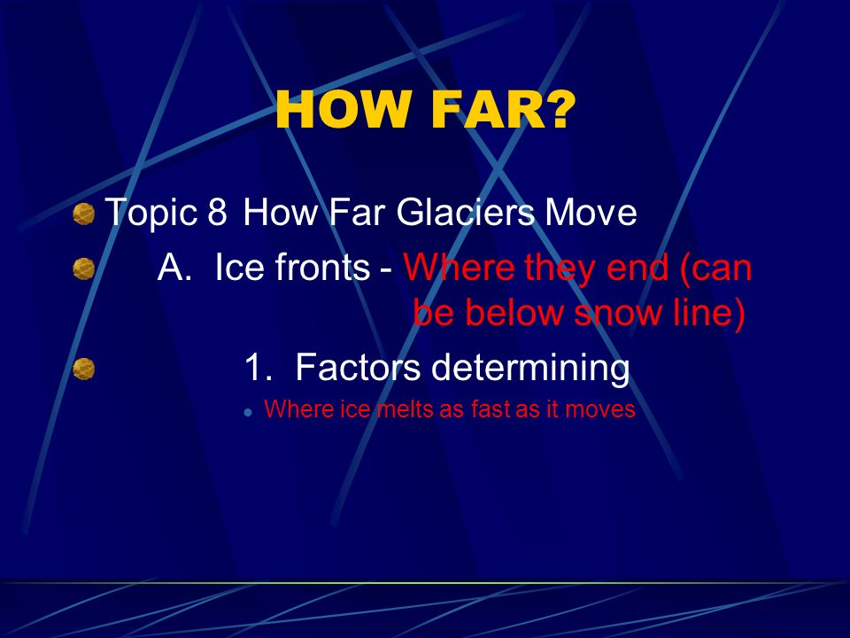 HOW FAR Topic 8 How Far Glaciers Move