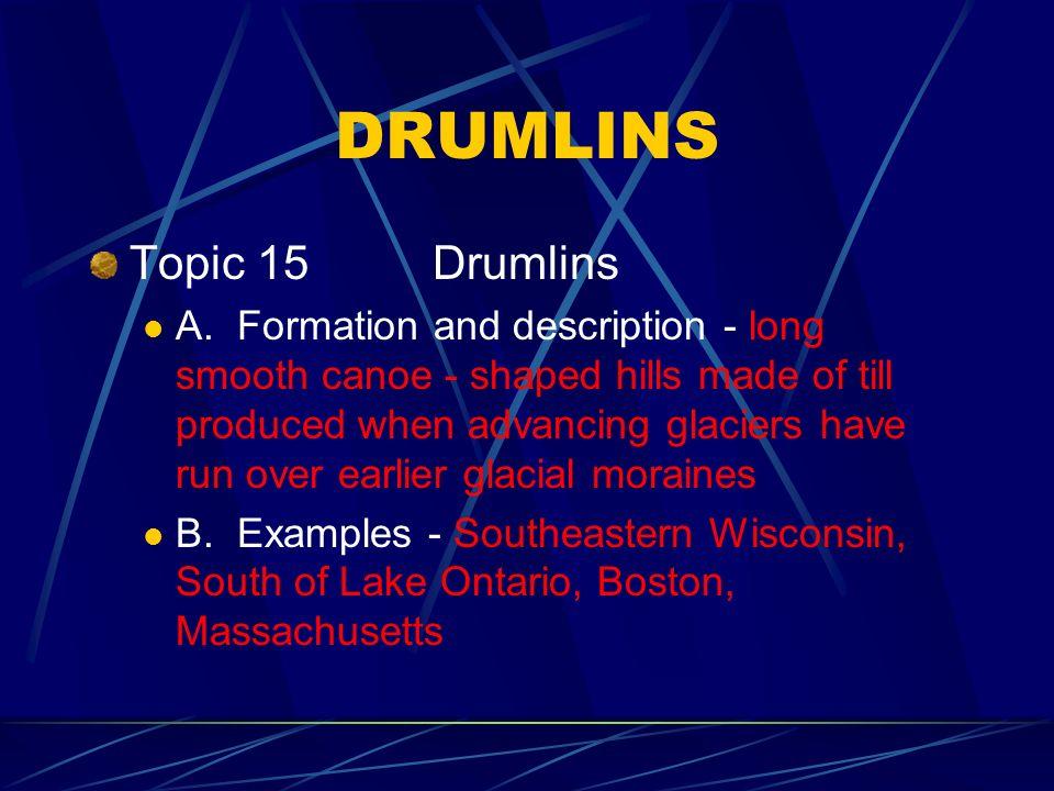 DRUMLINS Topic 15 Drumlins