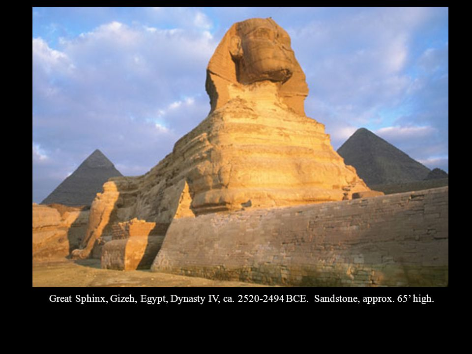 Great Sphinx, Gizeh, Egypt, Dynasty IV, ca BCE