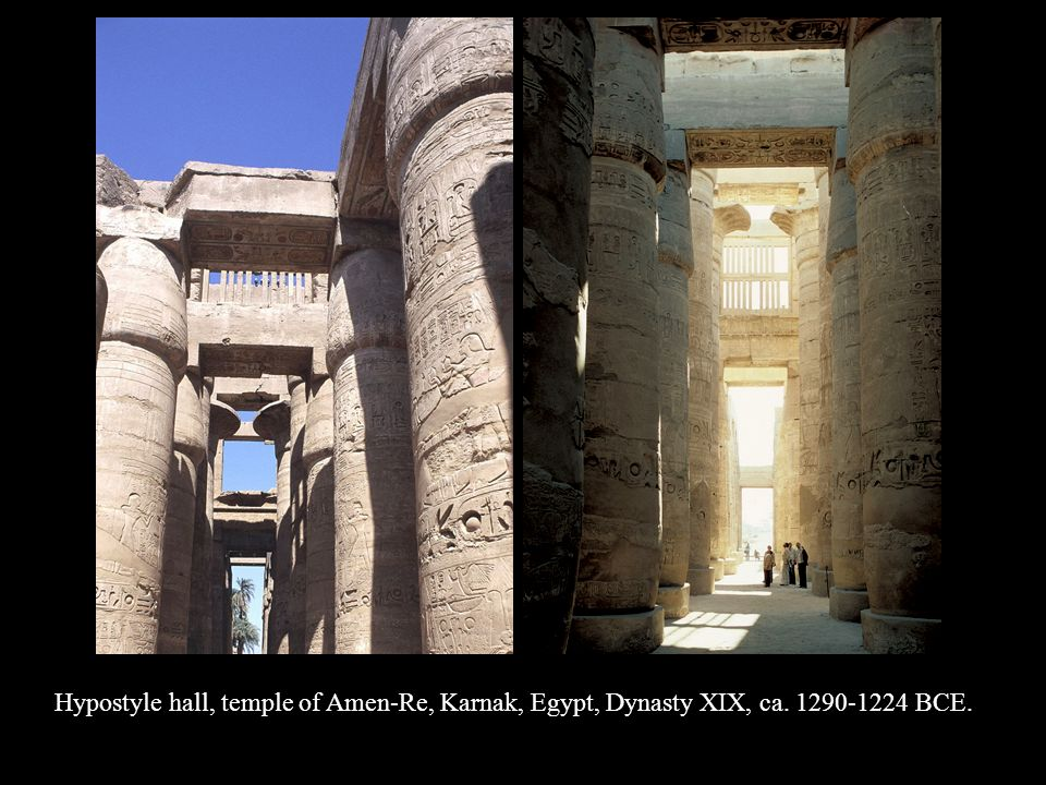 Hypostyle hall, temple of Amen-Re, Karnak, Egypt, Dynasty XIX, ca