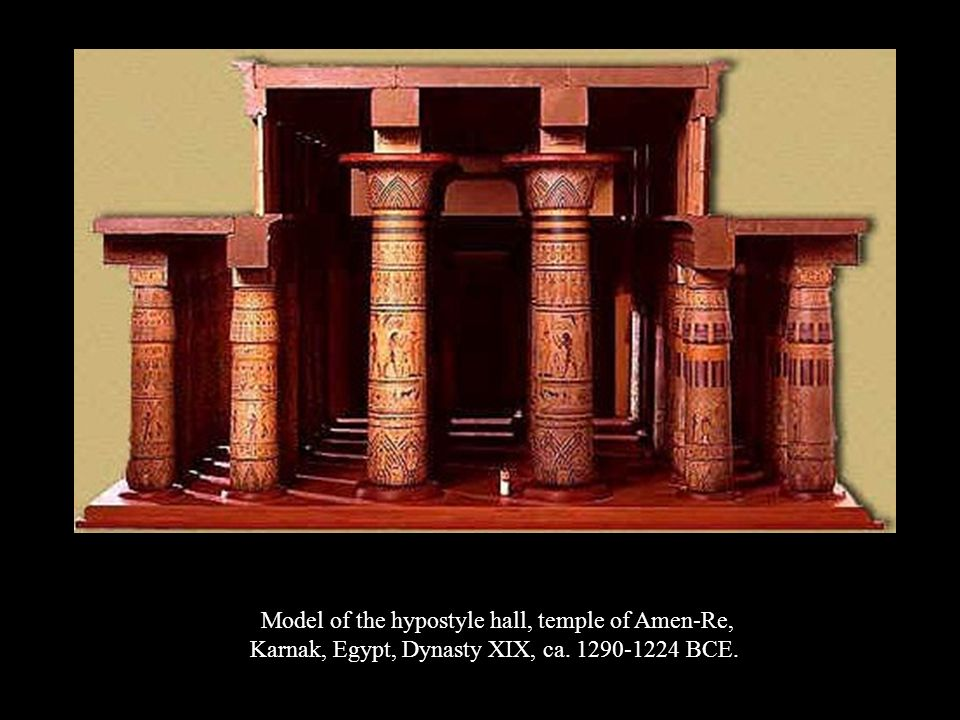 Model of the hypostyle hall, temple of Amen-Re,