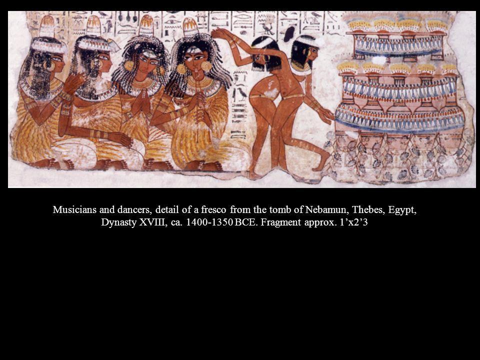 Dynasty XVIII, ca. 1400-1350 BCE. Fragment approx. 1'x2'3