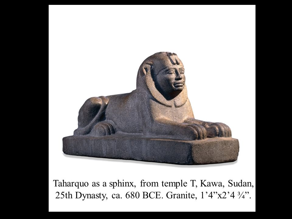 Taharquo as a sphinx, from temple T, Kawa, Sudan, 25th Dynasty, ca