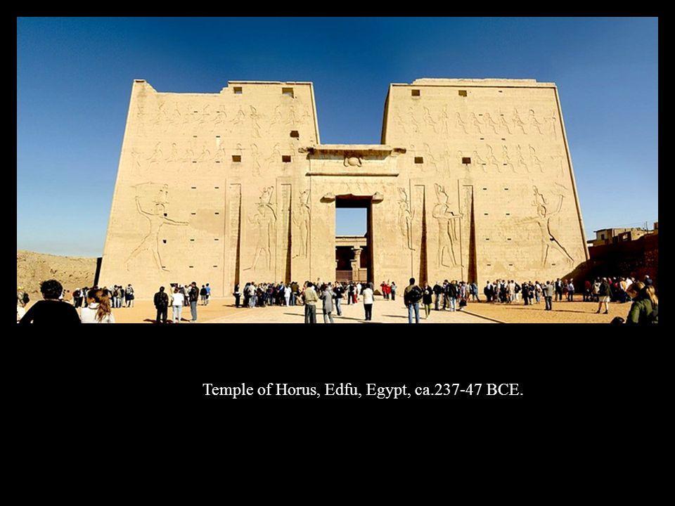 Temple of Horus, Edfu, Egypt, ca.237-47 BCE.