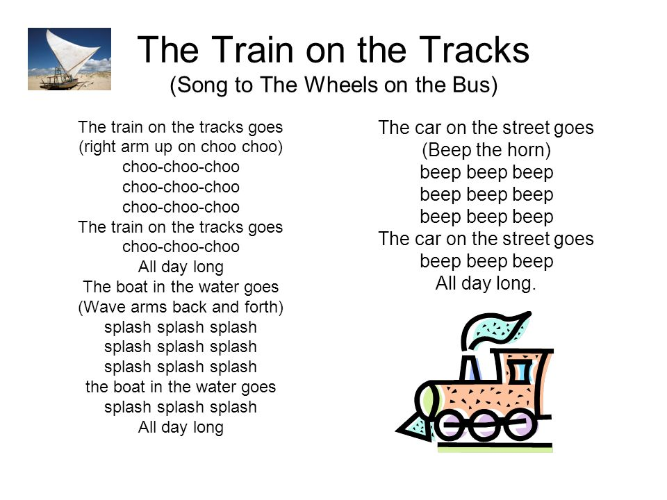 The Train on the Tracks (Song to The Wheels on the Bus)