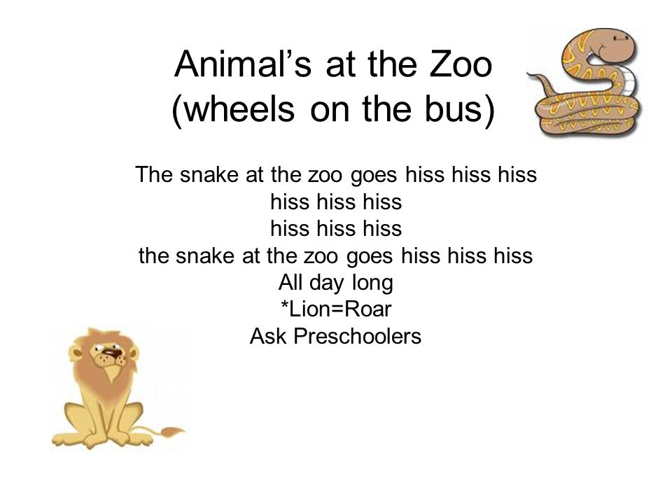 Animal's at the Zoo (wheels on the bus)