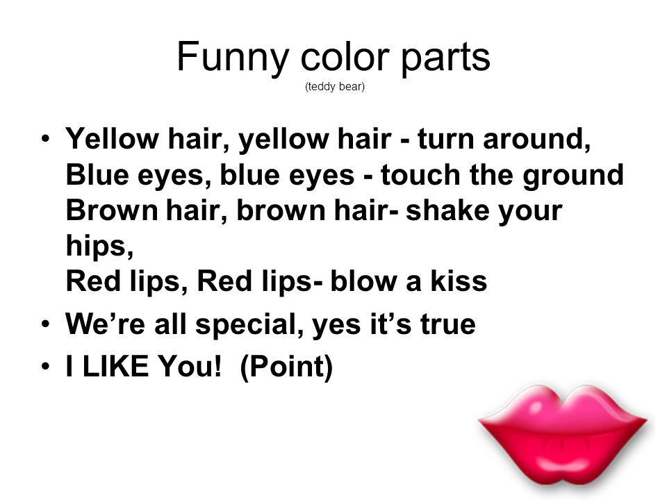 Funny color parts (teddy bear)