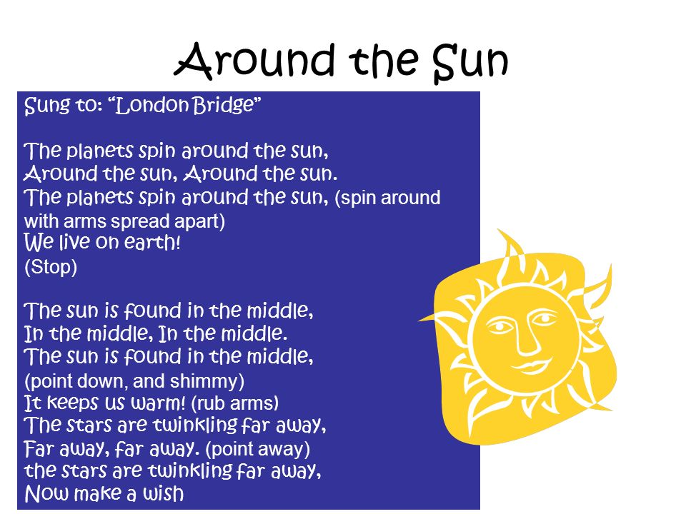 Around the Sun Sung to: London Bridge