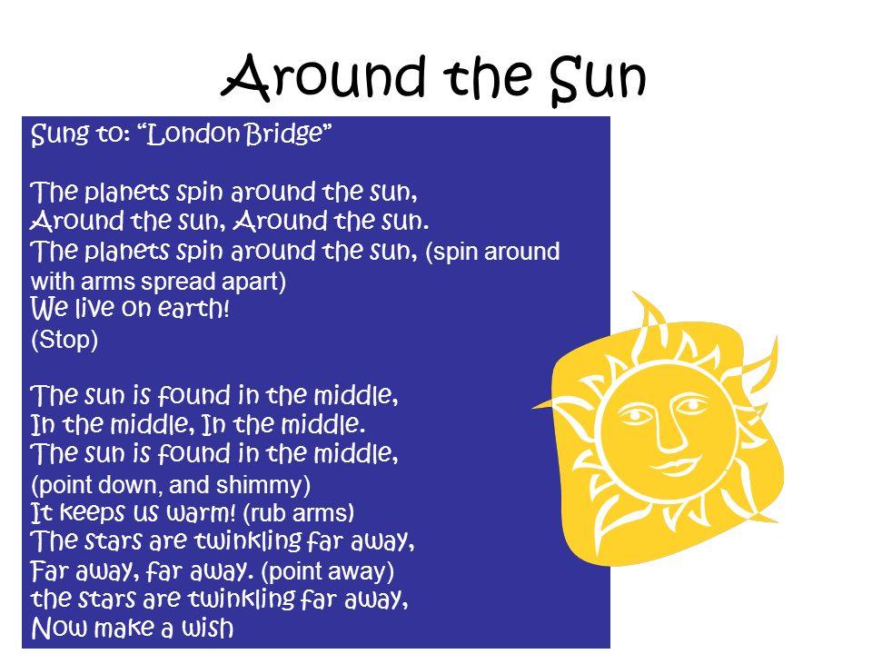 Around the Sun Sung to: London Bridge