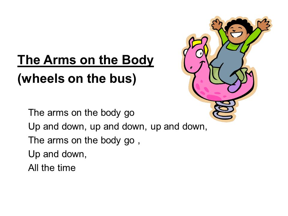 The Arms on the Body (wheels on the bus) The arms on the body go