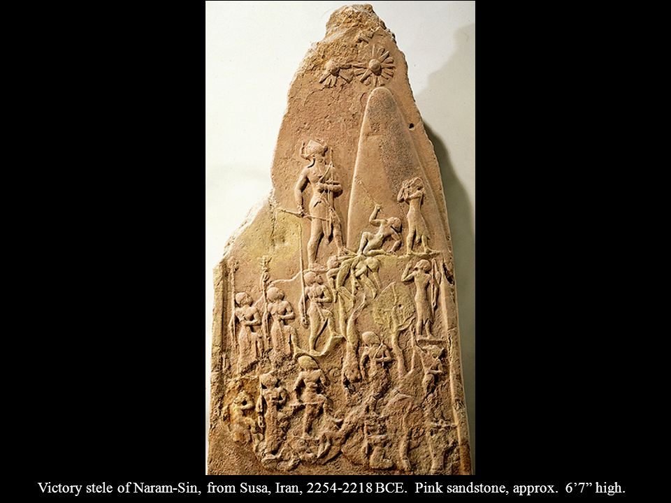 Victory stele of Naram-Sin, from Susa, Iran, BCE