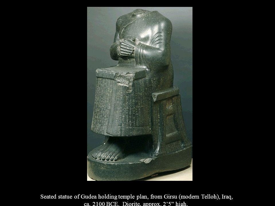 ca. 2100 BCE. Diorite, approx. 2'5 high.