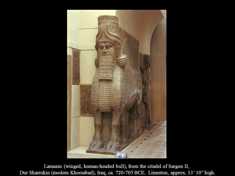Lamassu (winged, human-headed bull), from the citadel of Sargon II,