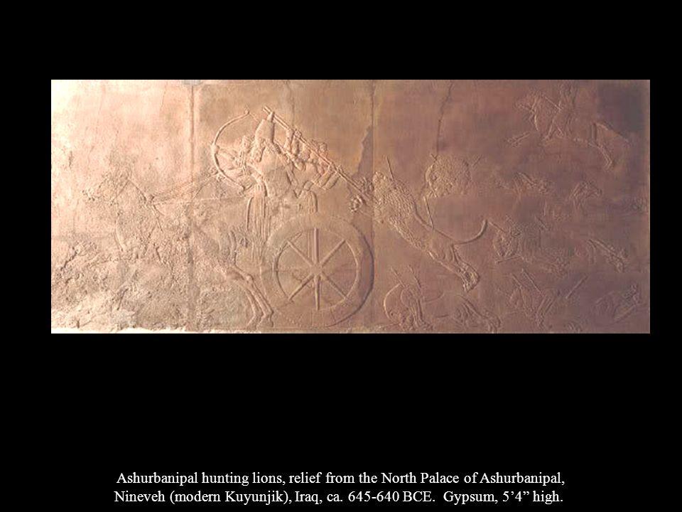 Nineveh (modern Kuyunjik), Iraq, ca. 645-640 BCE. Gypsum, 5'4 high.