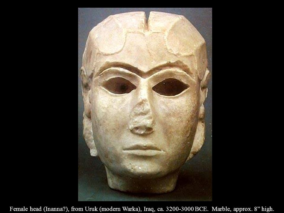 Female head (Inanna. ), from Uruk (modern Warka), Iraq, ca