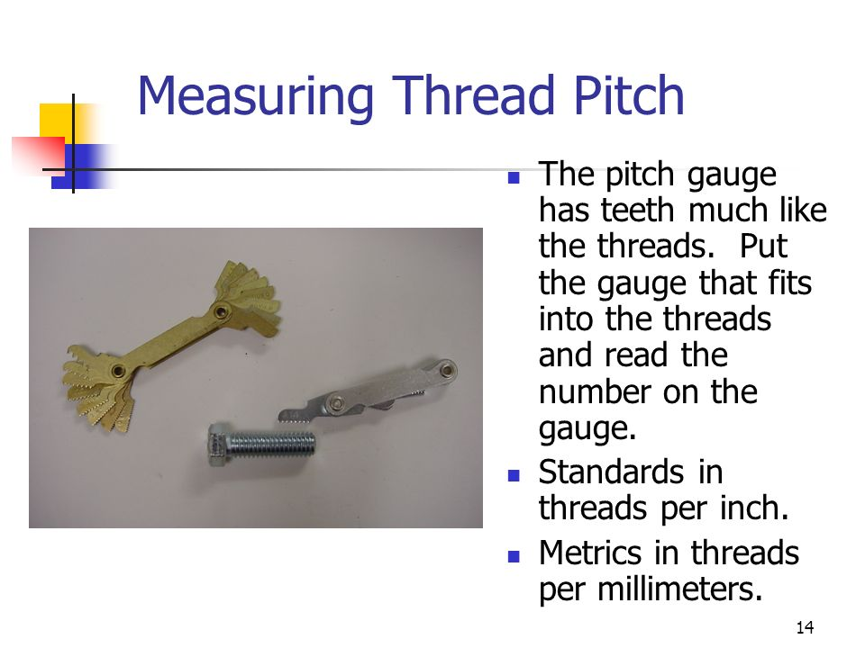 Measuring Thread Pitch