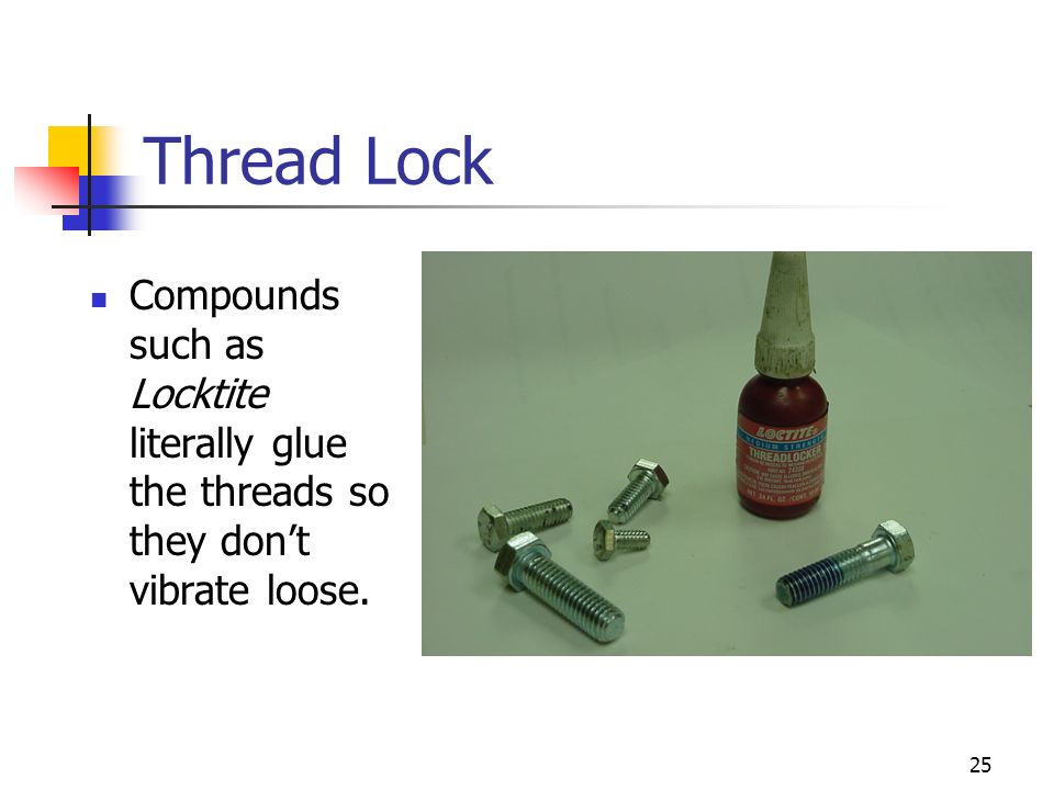 Thread Lock Compounds such as Locktite literally glue the threads so they don't vibrate loose.