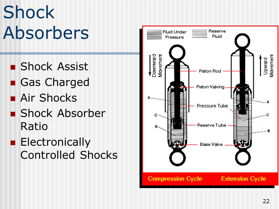 Shock Absorbers Shock Assist Gas Charged Air Shocks