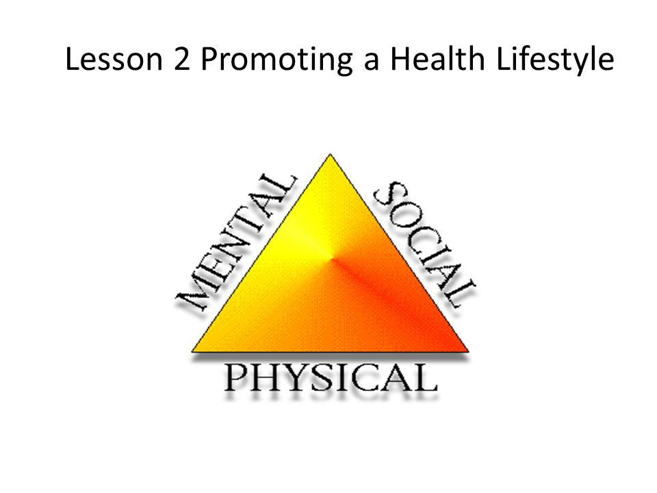 Lesson 2 Promoting a Health Lifestyle