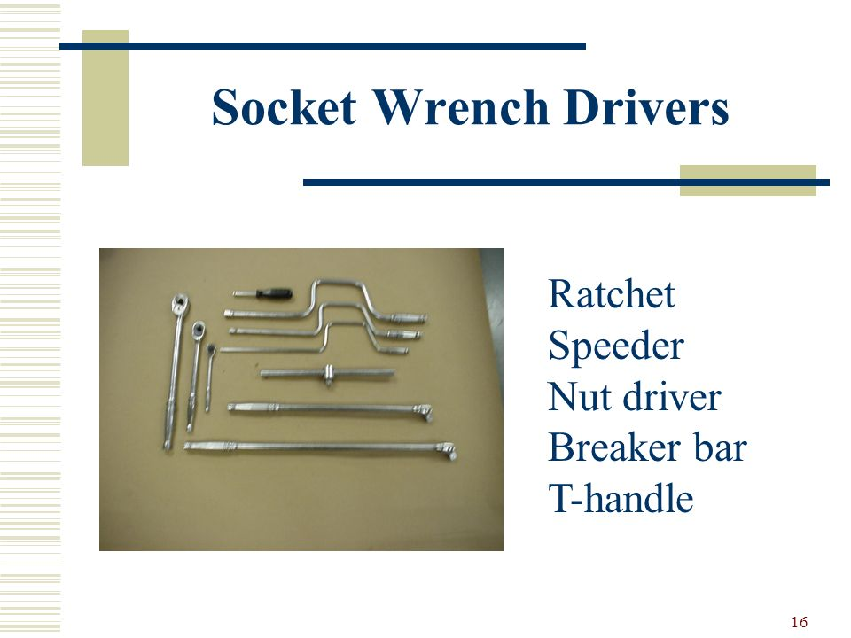 Socket Wrench Drivers Ratchet Speeder Nut driver Breaker bar T-handle