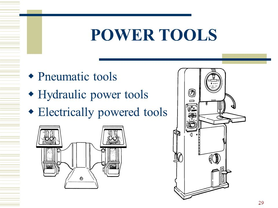 POWER TOOLS Pneumatic tools Hydraulic power tools