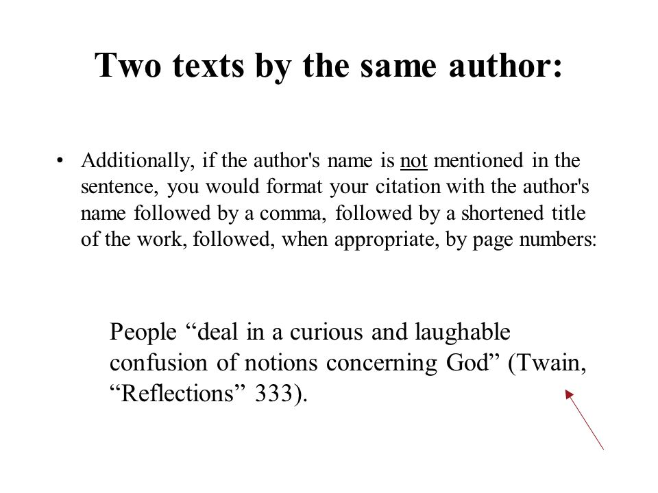 Two texts by the same author: