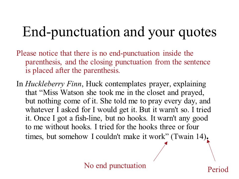 End-punctuation and your quotes