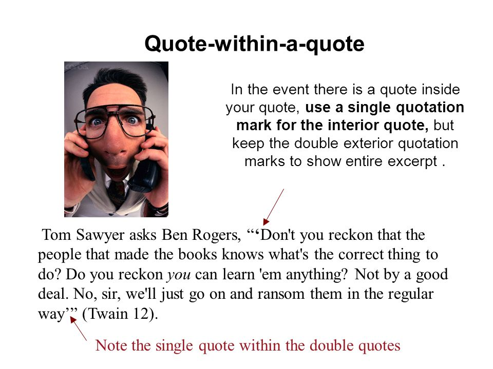 Quote-within-a-quote