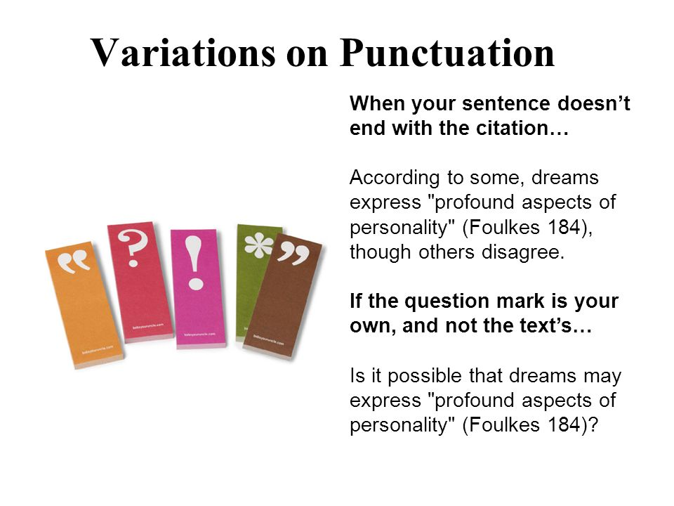 Variations on Punctuation
