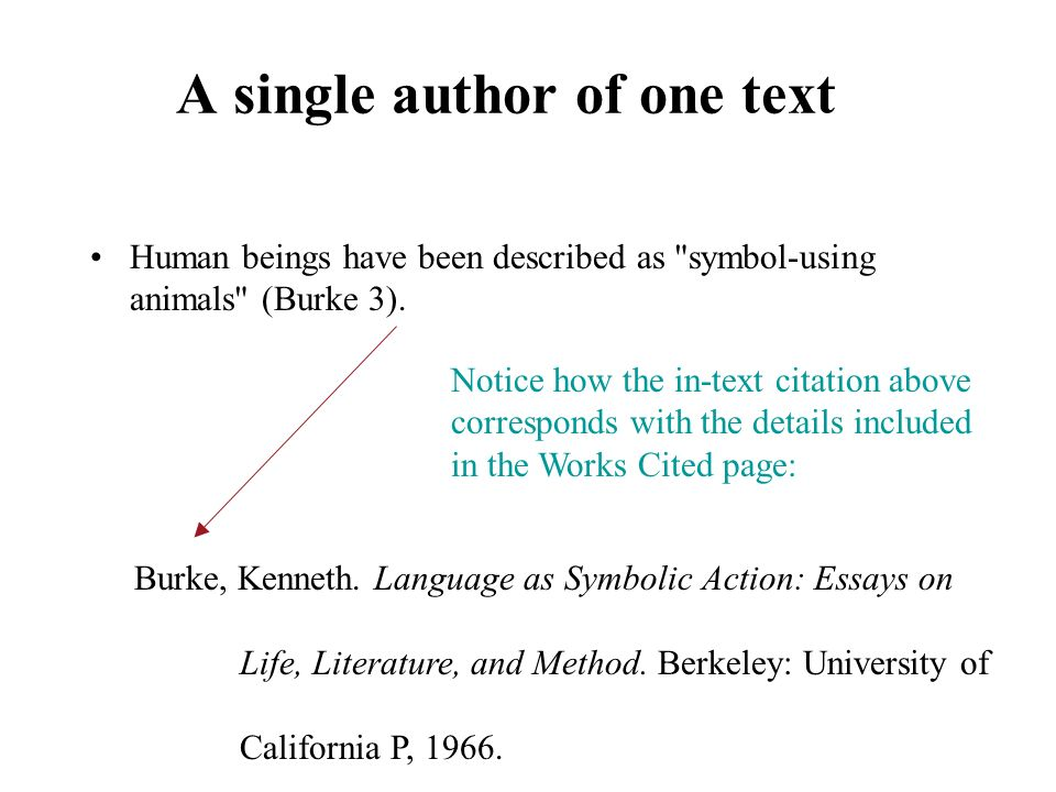 A single author of one text