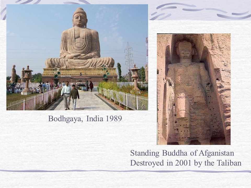 Bodhgaya, India 1989 Standing Buddha of Afganistan Destroyed in 2001 by the Taliban