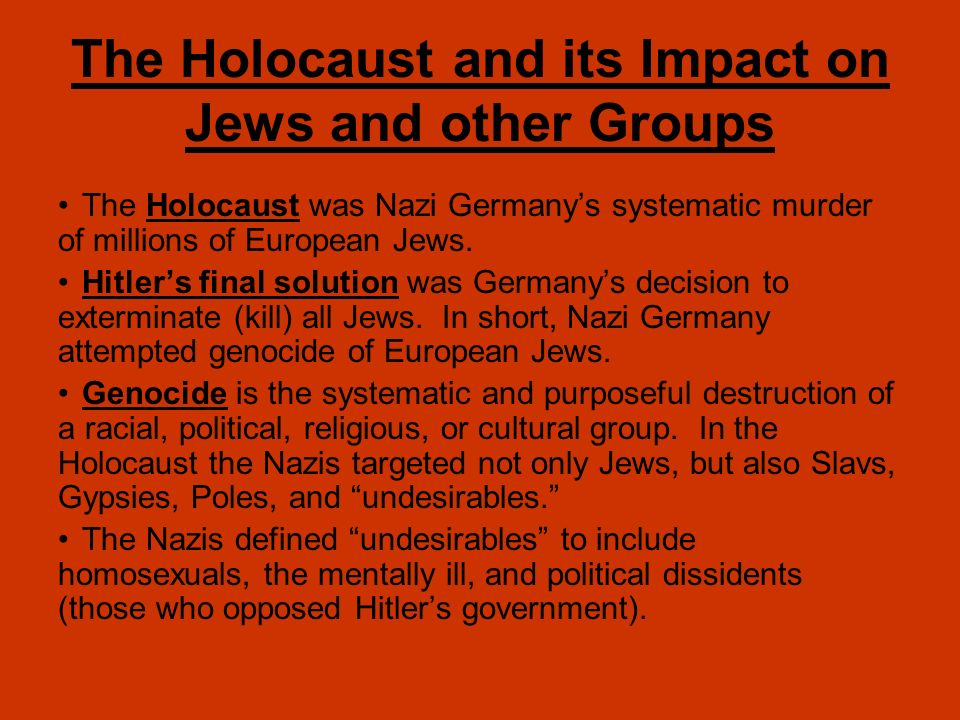 nazi impact on homosexuals Is the research that was being done on the causes of homosexuality came to a halt when the nazis came subsequent loss had a large impact on.
