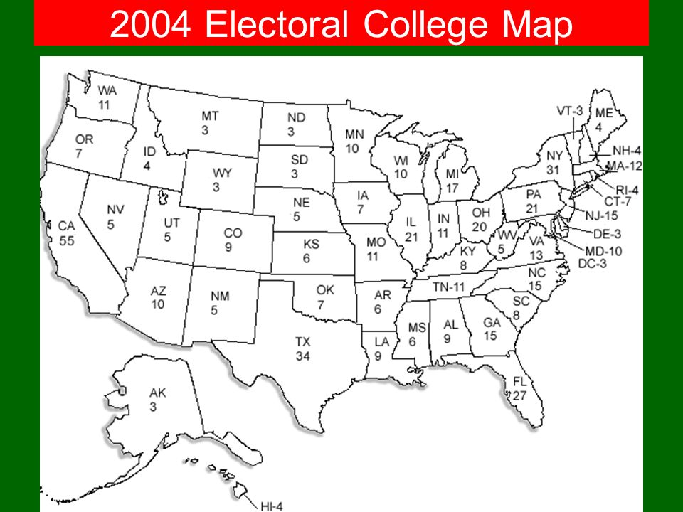 2004 Electoral College Map