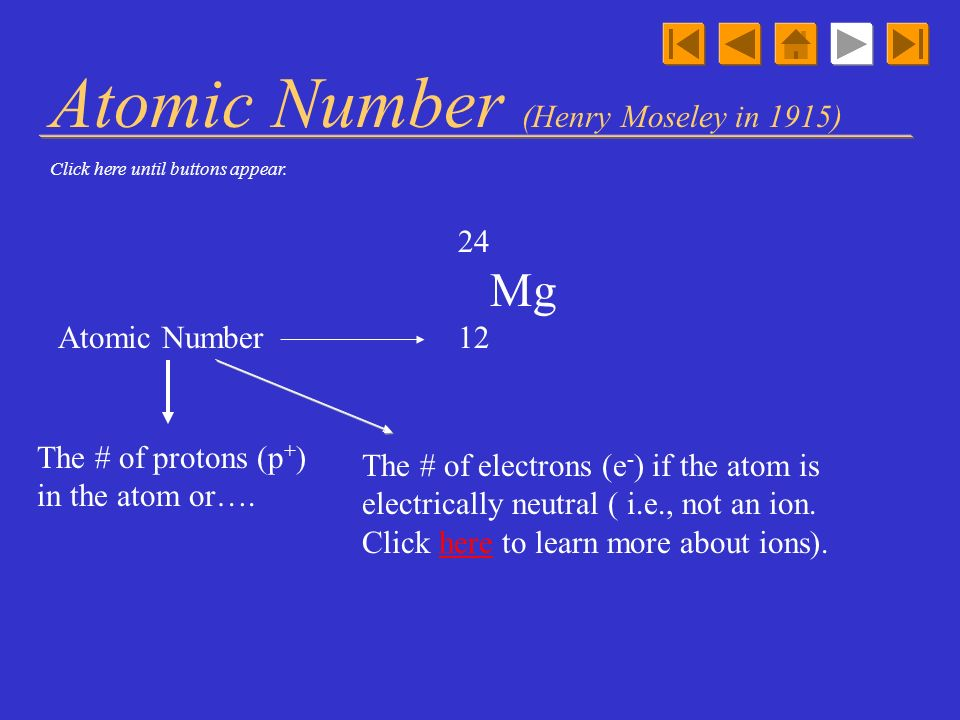 Atomic Number (Henry Moseley in 1915)