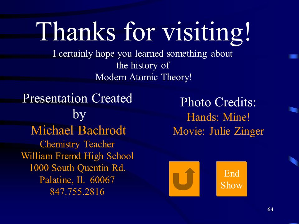 Thanks for visiting! Presentation Created Photo Credits: by