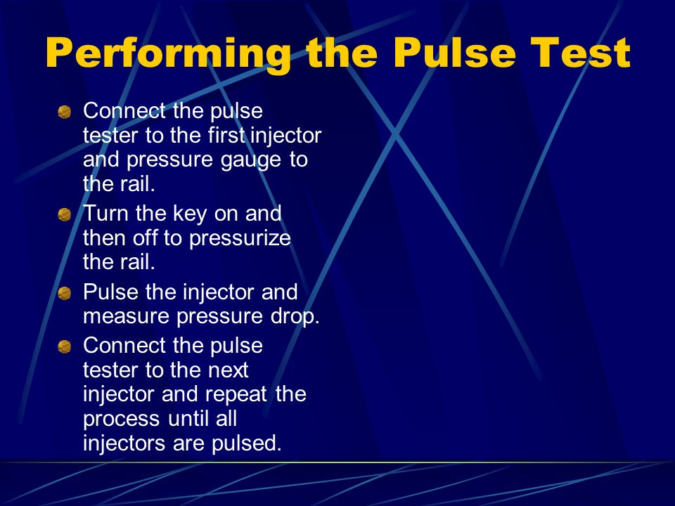 Performing the Pulse Test