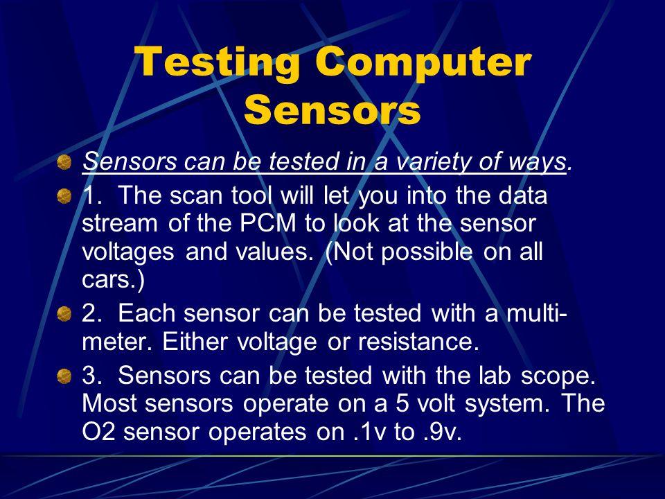 Testing Computer Sensors