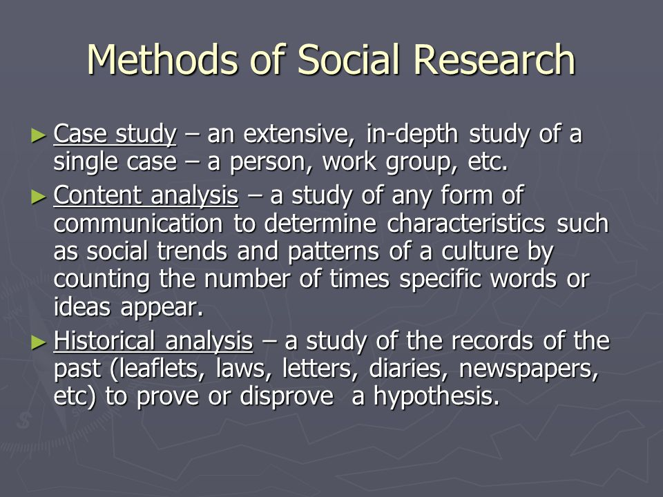 Methods of Social Research