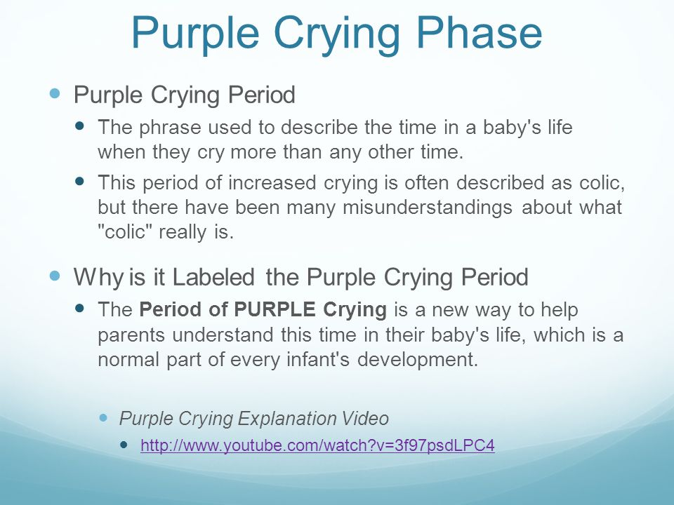 Purple Crying Phase Purple Crying Period