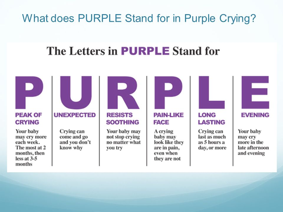 What does PURPLE Stand for in Purple Crying
