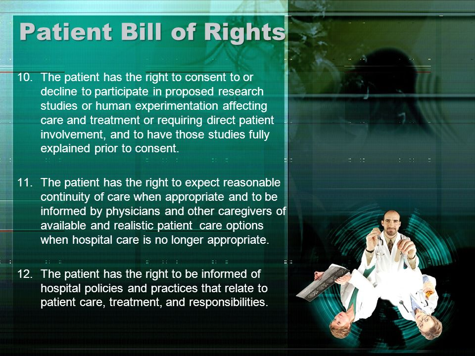 Patient Bill of Rights