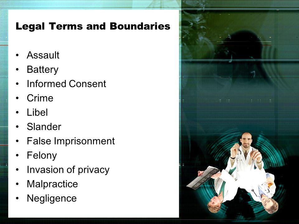 Legal Terms and Boundaries