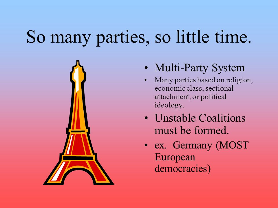 So many parties, so little time.