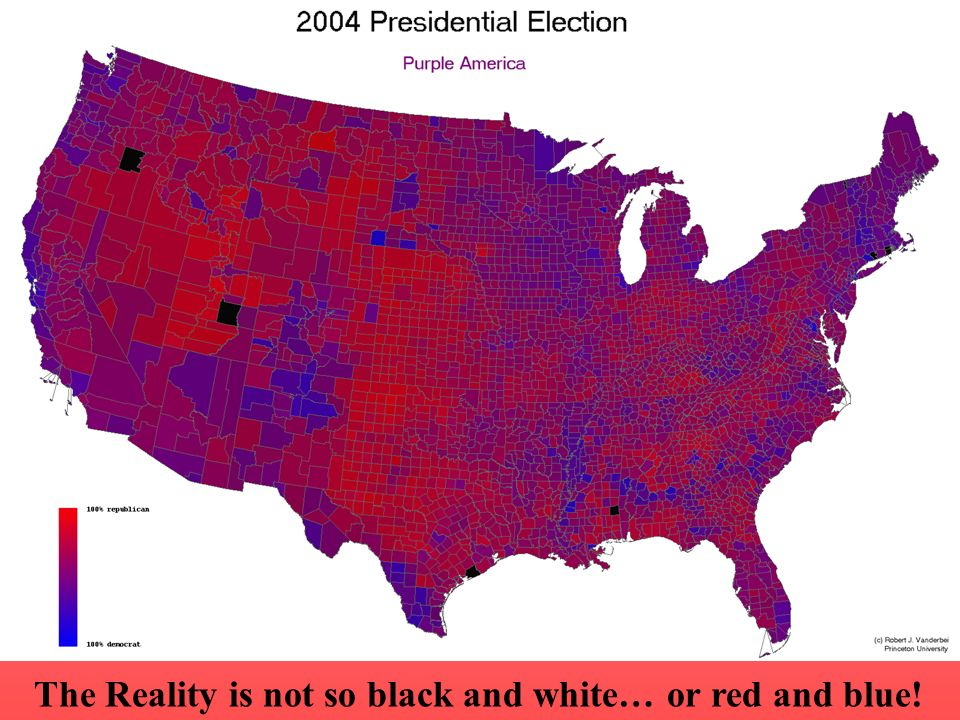 The Reality is not so black and white… or red and blue!