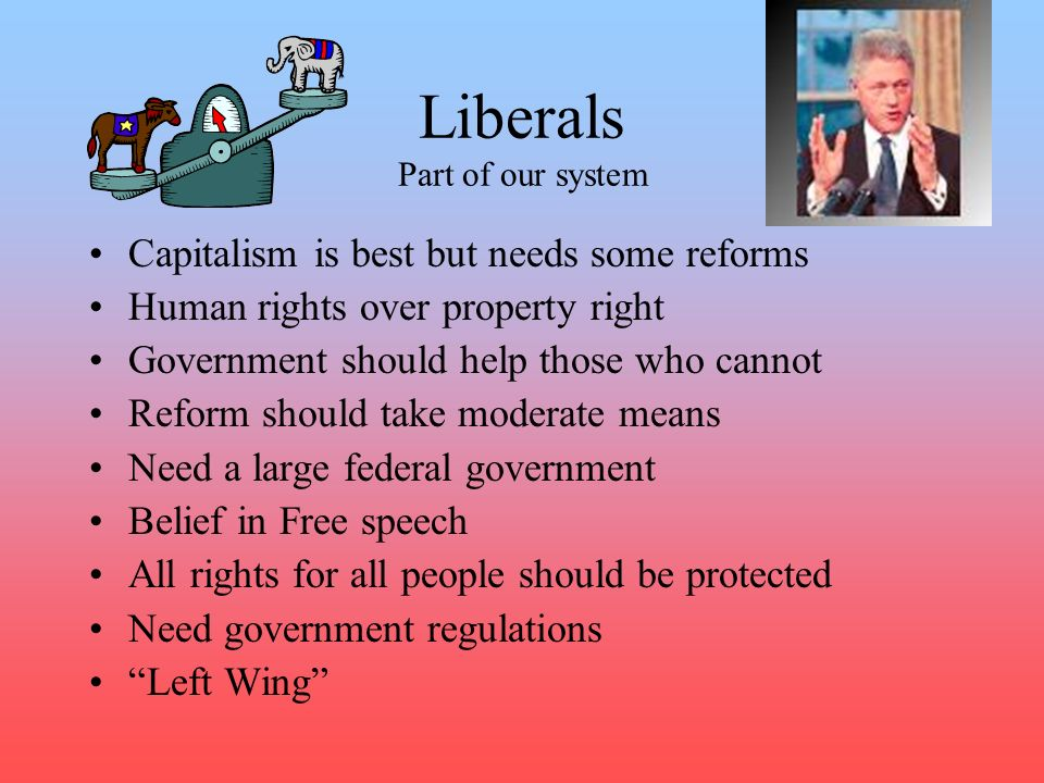 Liberals Part of our system