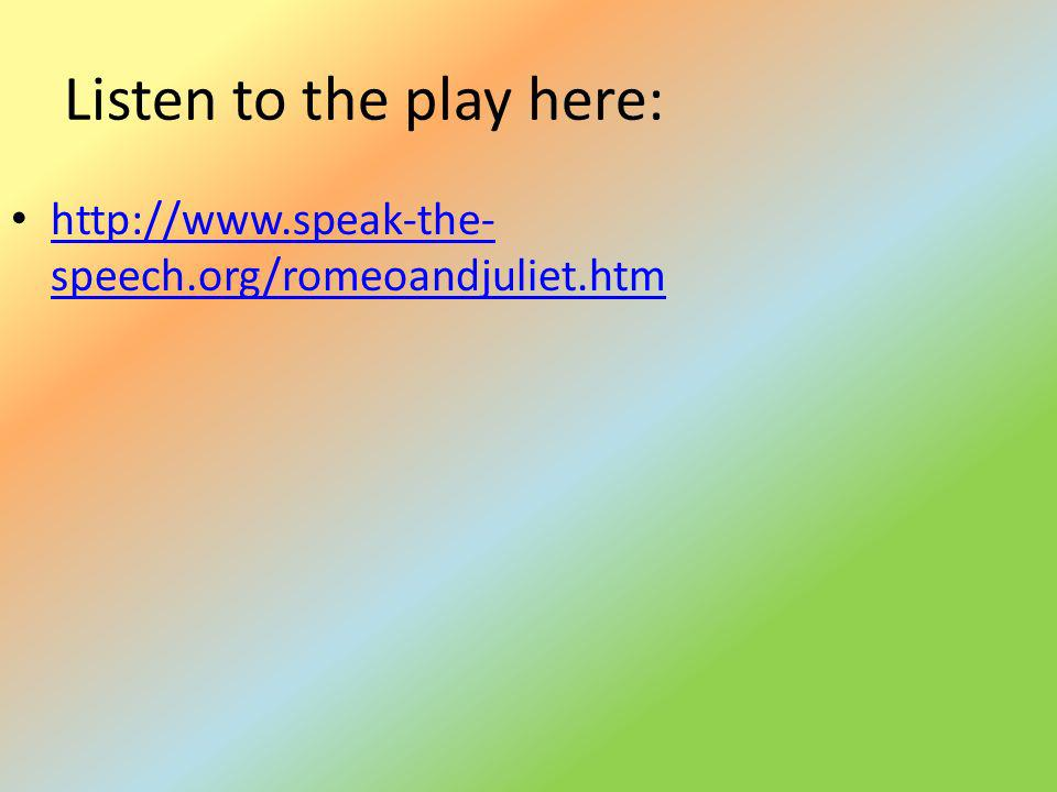 Listen to the play here: