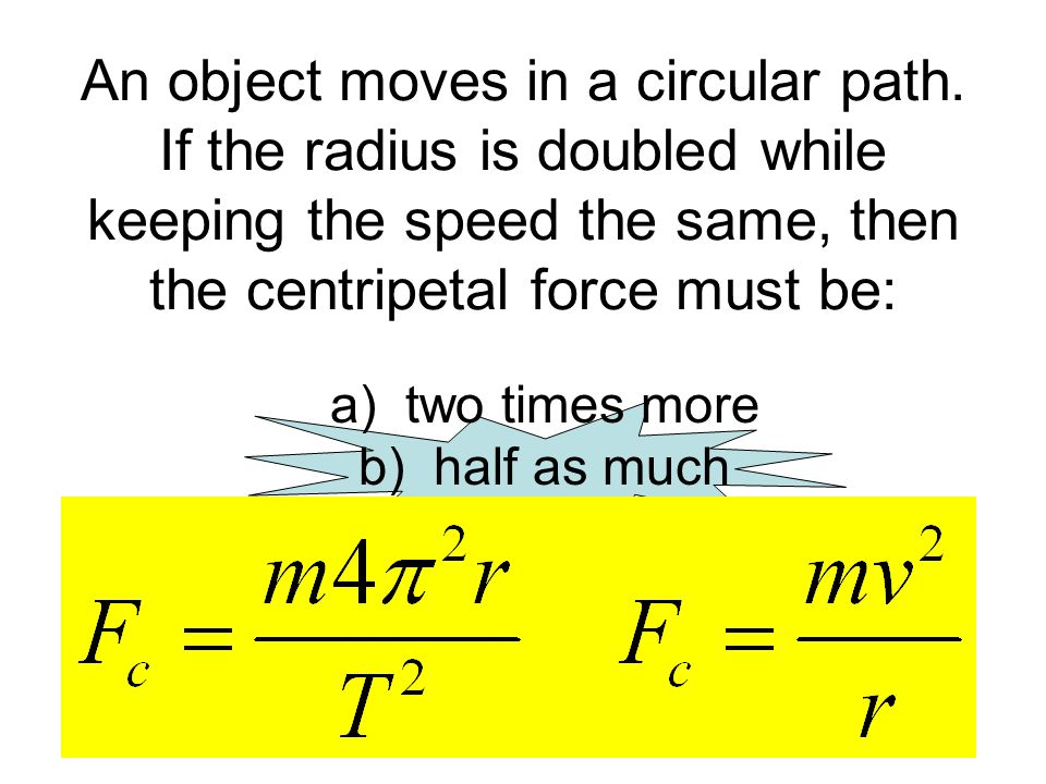 An object moves in a circular path