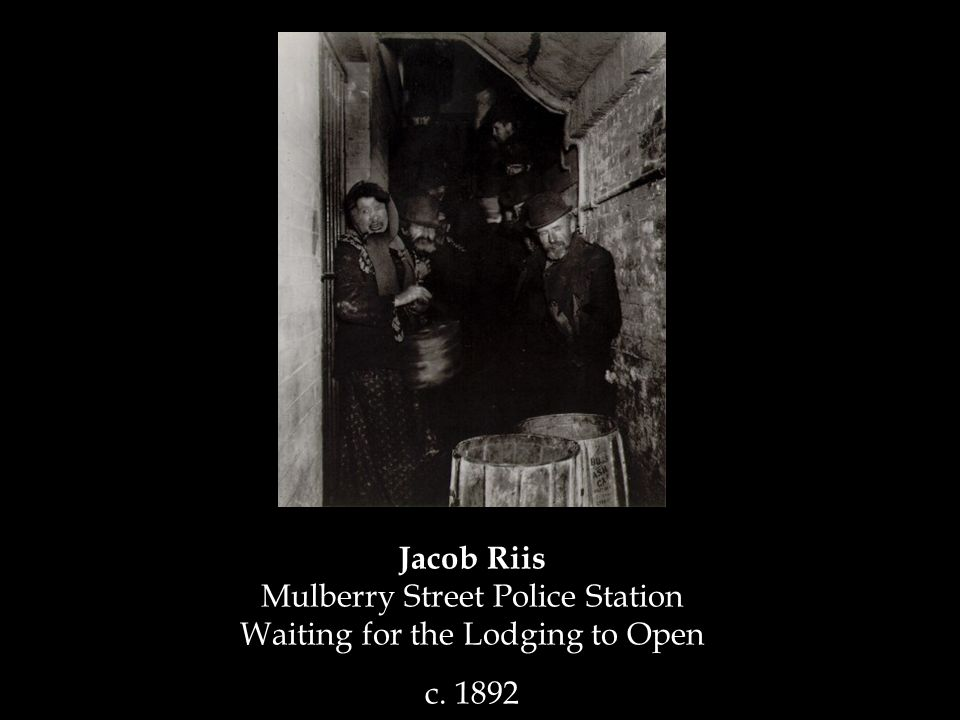 Jacob Riis Mulberry Street Police Station Waiting for the Lodging to Open c. 1892