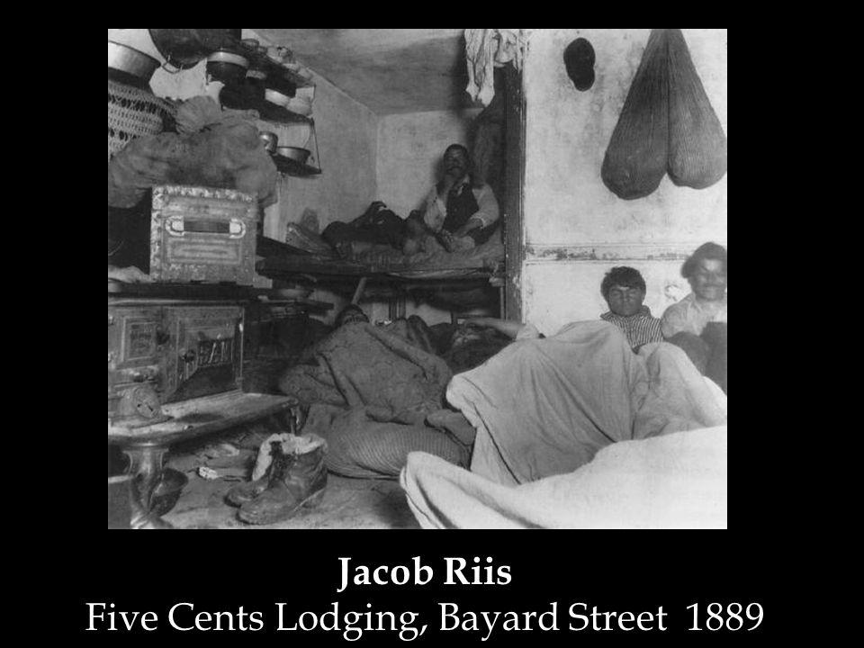 Jacob Riis Five Cents Lodging, Bayard Street 1889